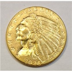 1926 $ 2 1/2 Indian Gold, BU 60, Very Nice BU