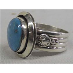 Navajo Sterling Turquoise Ring - Ben Begay