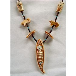 Navajo Corn Maiden Fetish Necklace