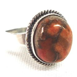 Mojave Orange Turquoise Ring Size 8 1/2