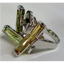 Peridot and Citrine Ring Size 9 1/2