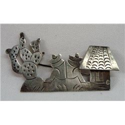 Mexican Taxco Sterling Pin-Marked