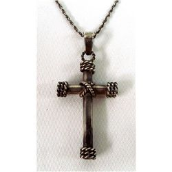 Mexican Taxco Sterling Cross Necklace