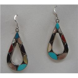 Zuni Channel Set Pierced Earrings