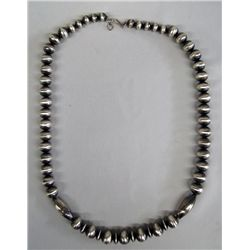 Navajo Sterling Silver Necklace - Virginia Tso