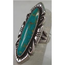 Navajo Ring with Turquoise on Sterling