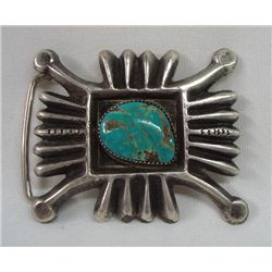 Navajo Traditional Turquoise Belt Buckle