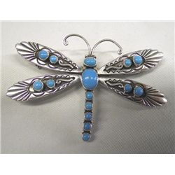 Navajo Sterling Dragonfly Pin/Pendant - L Charley