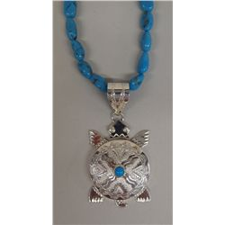 Navajo Sterling Turquoise Choker - Mariano
