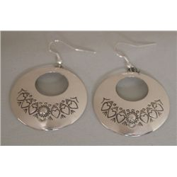 Navajo Sterling Silver Earrings - Albert Bighand