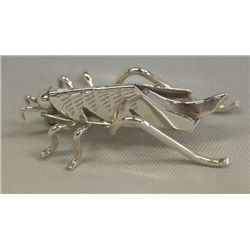 Navajo Sterling Silver Cricket Pin - T. Yazzie