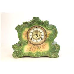 Ansonia green porcelain clock face