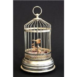 Bird cage music box