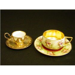2 cups & saucers, 1 Rosenthal