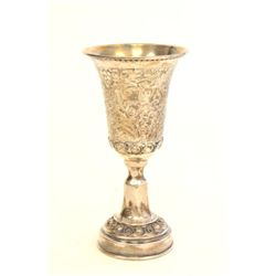Judaica Kiddush cup marked Bezalel sterling