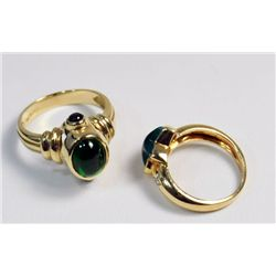 2 14kt yellow gold rings