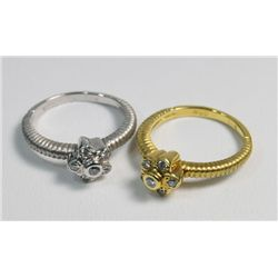 Pair 18kt gold stack rings