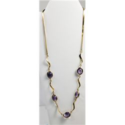 14kt yellow gold & amethyst necklace