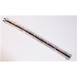 Art Deco platinum, diamond & garnet bracelet