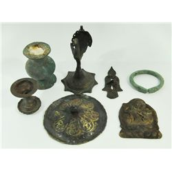 Group lot of 7 bronze pieces