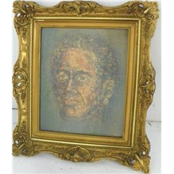 Gilt framed oil on paper signed L. Godlin
