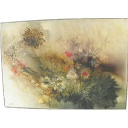 Oil painting signed Florence Hasenflug