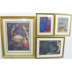 4 Marc Chagall lithographs