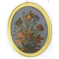 18th c. French reverse painting on glass