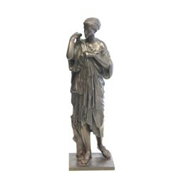 "Classical bronze of ""Lady"" signed B'cault on base"