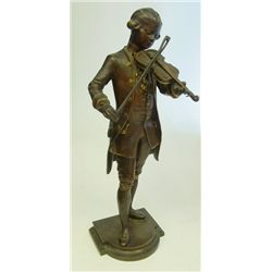 "Signed bronze ""Violin Player"" Debut"
