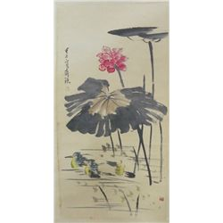 Chinese scroll painting by Qi Bai Shi