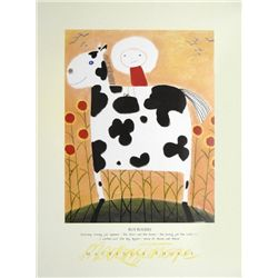 Mackenzie Thorpe 'ROY ROGERS' Lithograph