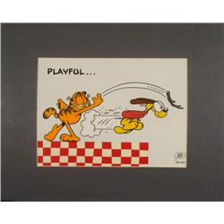 Garfield & Odie Ltd Ed Animation Serigraph Cel -Playful