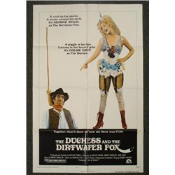 Duchess and the Dirtwater Fox Orig 1S Movie Poster 1976
