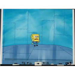 Original SpongeBob Production Cel & Background Scared