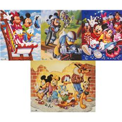 4 Disney Prints: Mickey Mouse & Friends Goofy, Movies