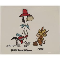 Quick Draw McGraw Signed Orig Model Cel Animation Art
