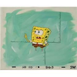 Original SpongeBob Animation Cel & Background Wait