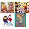 4 Animation Prints Mickey Mouse, Bugs Bunny, Thumbelina