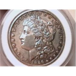 1886-S Morgan Dollar AU55