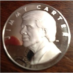 .04 Oz .999 Pure Silver Jimmy Carter Coin