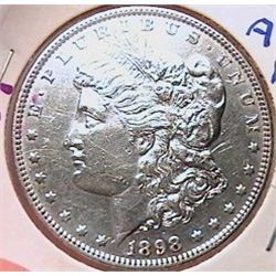 1898 Morgan Dollar AU50