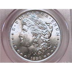 1890-O Morgan Dollar Ch MS64 PCGS