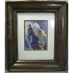 "Framed JoAnne Bird Print ""Gallant Quest"" '93"