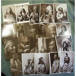 23 Unused Native American Photograph Postcards