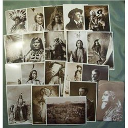 20 Unused Old West & Native American Postcards