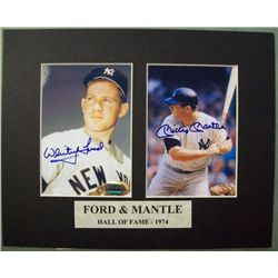 Autographed Photos Whitey Ford Mickey Mantle w/COA
