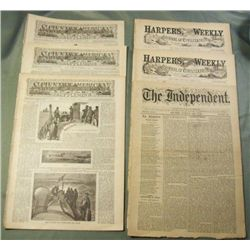 6 19th Century Magazines & Newspapers