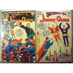 2 DC Superman's Pal Jimmy Olsen Comic Books