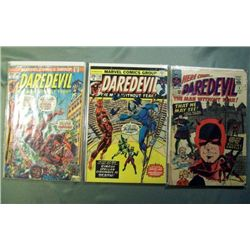 3 Marvel Daredevil Comic Books